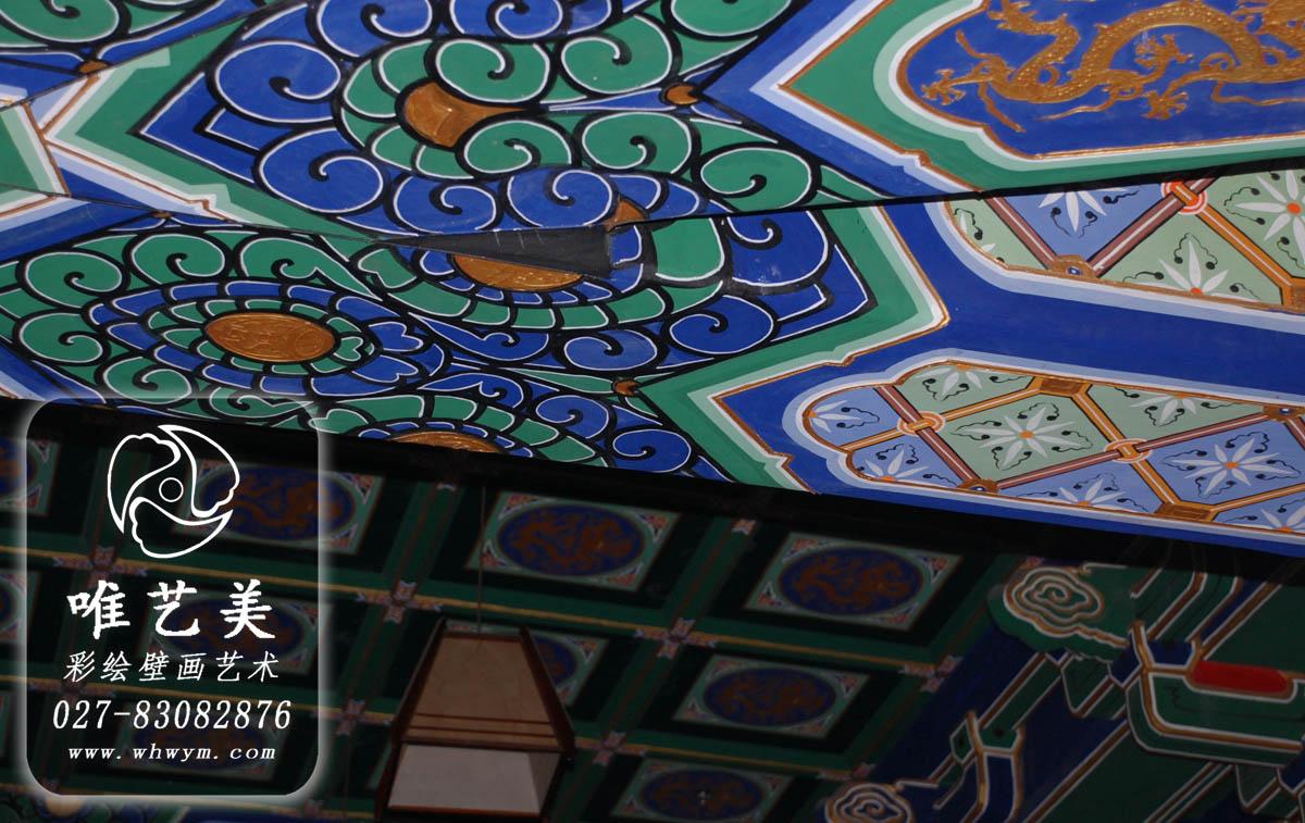 古建彩绘,古建筑彩绘,油漆彩画,寺庙彩绘,古建亭子,古代建