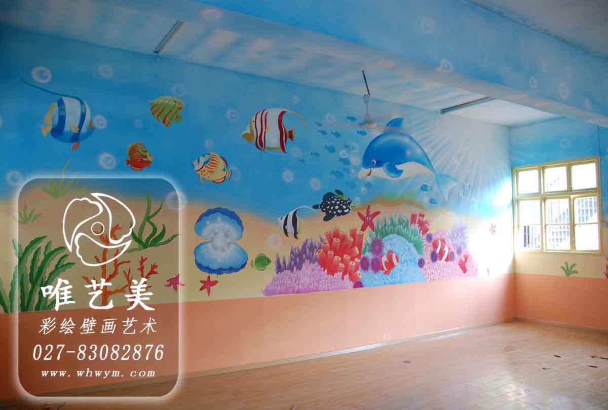 手绘墙画海洋图片