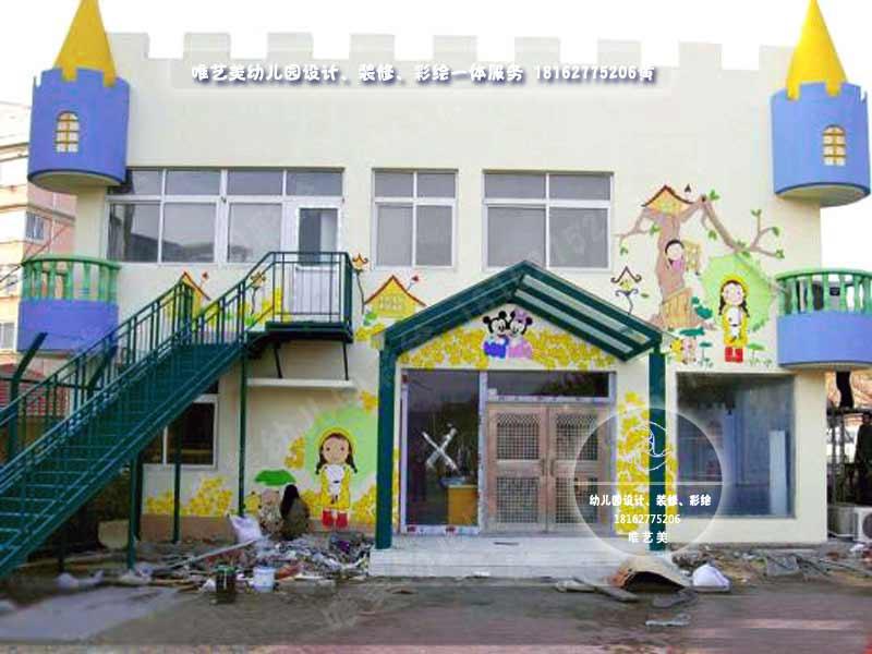 幼儿园墙体彩绘,幼儿园墙面彩绘