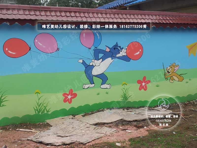 育溪中心幼儿园围墙长廊彩绘