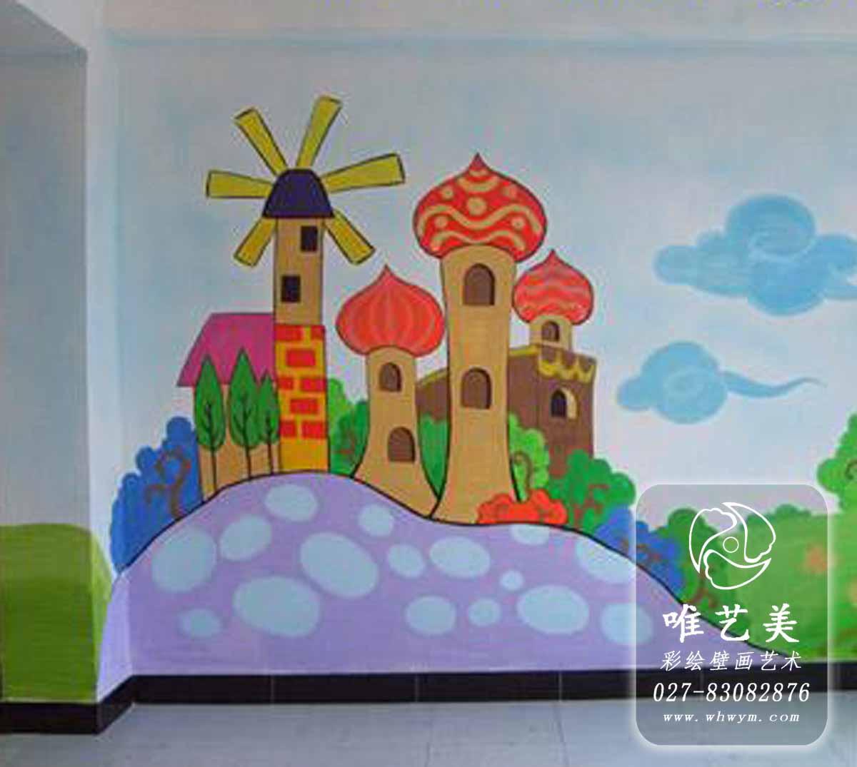 古塔小城堡儿童天地幼儿园彩绘