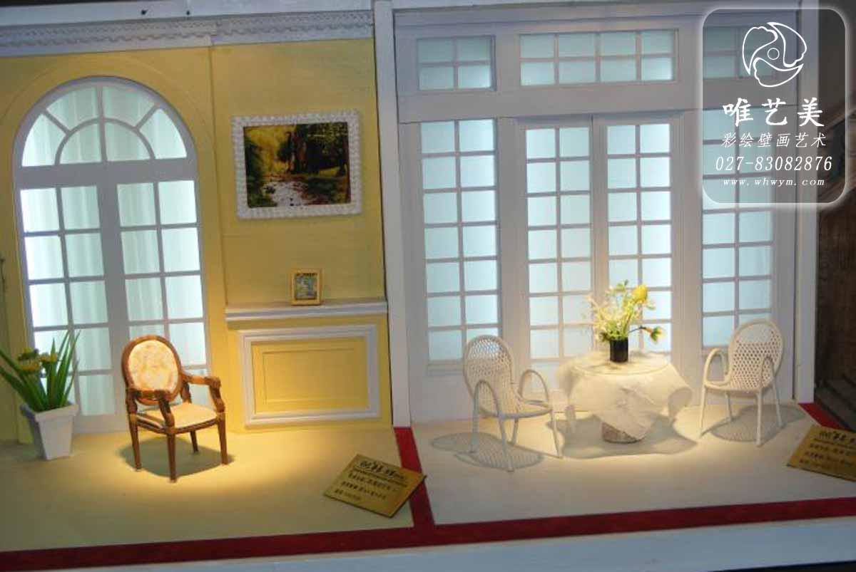 简约欧式风格影楼实景案例幼儿园彩绘
