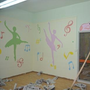 舞蹈墙绘图片大全